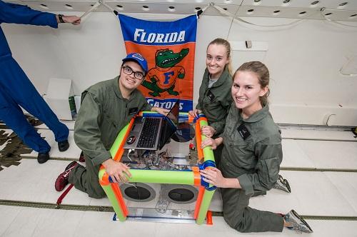 Microgravity flight team
