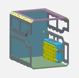 Rendering of the support structure with electronics box
